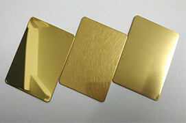 Stainless Steel Gold Colour Sheets